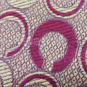 geometric design upholstery tapestry fabric close look