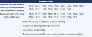 bus departure time