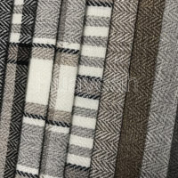 Stripe linen look fabric