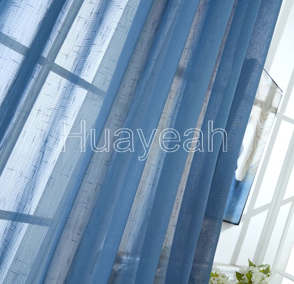Linen Polyester Sheer Curtain Fabric By The Yard