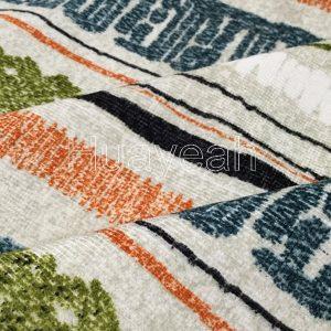 sofa furniture chenille printed fabric